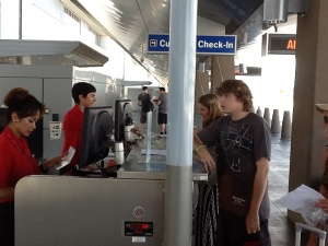 Exhanging boarding pass info for 'real' ticket