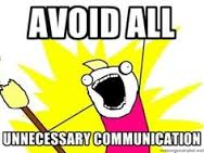 avoid communication