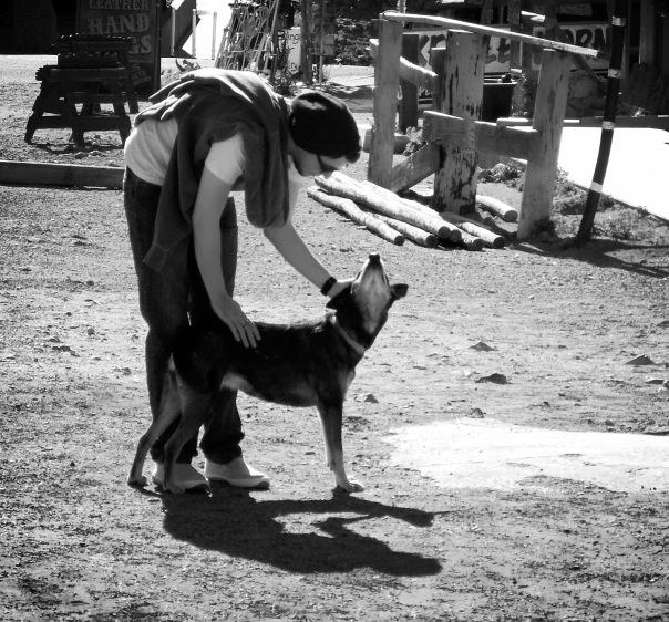 Nic & a town dog